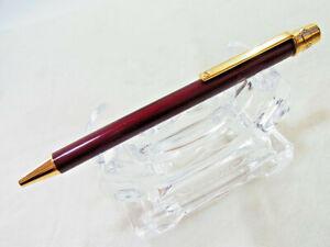 Cartier must de Santos Bordeaux Gold Finish Ballpoint Pen