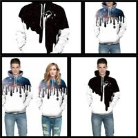3D Print Hoodie Jumper Graphic Pullover Sweatshirt Unisex Hooded Tops Womens