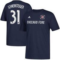 Adidas Chicago Fire #31 Schweinsteiger Soccer Team Blue T-Shirt S, M, L