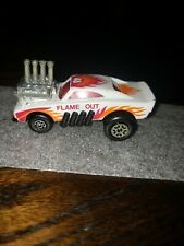 1972 Vintage Matchbox Red Rider Flame Out #48 Dodge Charger RARE WHITE