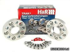 H&R 25mm Hubcentric Wheels Spacers Audi A4 B6 B6 B7 1995-2007 inc S4 RS4