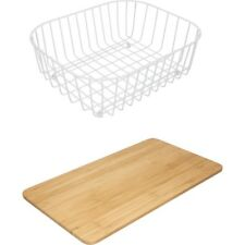Franke Drainer Basket Chopping Board 2 Piece Kitchen Accessory Set 112.0050.436