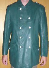 grüne Polizei Lederjacke der frühen BRD  Gr. 52 Uniformjacke Polizeijacke