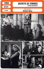 FICHE CINEMA : SECRETS DE FEMMES - Parker,Neal,Wise 1950 Three Secrets