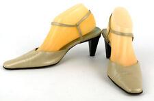 GIANNI BINI Women's Beige Leather Square Toe Victoria Strappy Heels ~ 9M