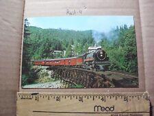 British Columbia 2860 Royal Hudson Train Trestle Bridge Passenger line live pass