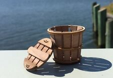 "#BB2, Miniature Bushel Basket (Crab Basket) with Lid, 1-1/2"" Dia."