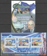 BC103 2012 GUINEA WORLD LEADERS FAMOUS PEOPLE RELEASE THE EURO KB+BL MNH