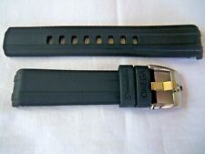 20mm RUBBER STRAP BLACK &  PIN BUCKLE for  OMEGA SEAMASTER DIVER 300