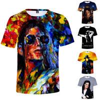 Michael Jackson T-Shirt Cotton Top Summer 3D Short Sleeve Tee Crew Neck Summer