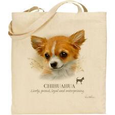 Chihuahua Dog Breed Howard Robinson reusable cotton shopping shoulder tote bag