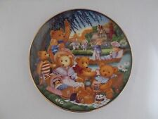 "Franklin Mint ""A Teddy Bear Picnic"" Plate 1991 Limited Edition by Carol Lawson"
