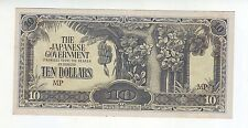 THE JAPANESE GOVERNMENT $10 Ten Dollar WWII BANKNOTE Invasion Money M-453