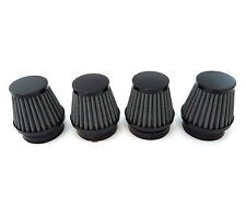 Black Air Filter Pod 54mm Set of 4 - Honda Kawasaki Motorcycle 79-82 CB750 CB900