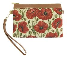 Poppy Flower Design Tapestry Slim Crossbody Bag/Purse Slim  Signare