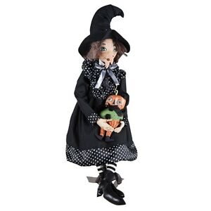 "FGS72590 39"" Rosalea Witch w/ Pumpkin Doll Joe Spencer Halloween Decoration"