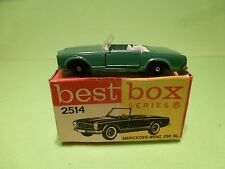 BEST BOX 2514 MERCEDES BENZ 230 SL - GREEN WHITE 1:60? - GOOD CONDITION IN BOX