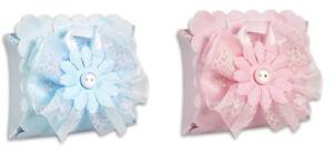 Scatoline portaconfetti 36 pz con fiore nascita battesimo bomboniera bimbo bimba