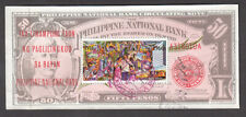 USED PHILIPPINES #C93 IMPERFORATE SOUVENIR SHEET CV$4.25