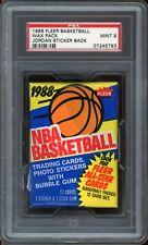 1988 Fleer Basketball Wax Pack Michael Jordan Back PSA 9 ***1986 Error on Label