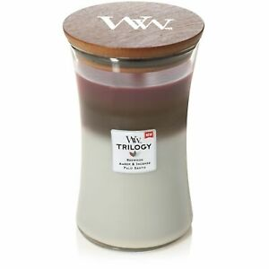 WoodWick Trilogy Large Soy Wax Candle - Forest Retreat Xmas