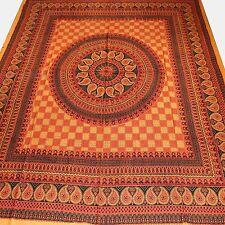 tagesdecke-rajasthan Classic Bedspreads India Decorative Cloth Orange 10