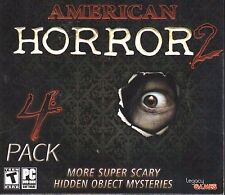American Horror 2 4 Pack PC Games Windows 10 8 7 XP Computer hidden object