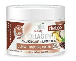 VB Detox Day & Night Face Cream Anti-Aging Collagen Superfoods Ages 30 - 45