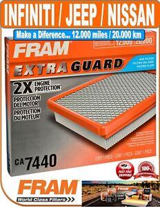 Fram CA7440 Air Filter-Extra Guard Fit INFINITI / JEEP / NISSAN / SUZUKI