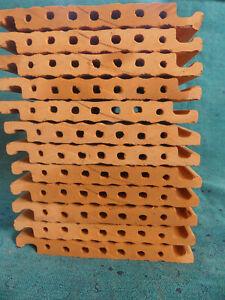 12 Tonziegel 7cm Bruthülsen Niströhren Wildbiene Insektenhotel Strangfalz