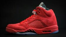 "Air Jordan Retro 5 ""Red Suede"" University Red/Black (136027 602) Size 18 NEW"