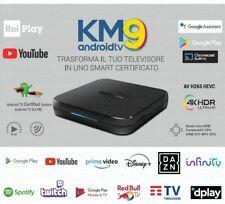 Box Tv Android Digiquest KM9 4k HDR Quad Core Wi-Fi Bluetoot OTT Android TV 9.0