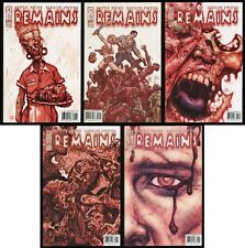 Remains Comic Set 1-2-3-4-5 IDW Walking Dead Zombies Undead Horror Cannibal Lot