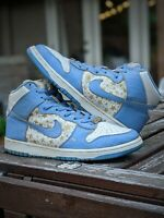 Size 11 Supreme x Nike SB Dunk High Pro Blue Vintage 2003 FAST SHIP 307385 141
