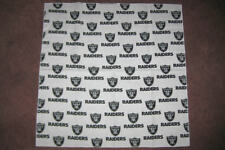 NFL OAKLAND RAIDERS  WHITE HEAD BANDANA - CHEERING CLOTH - APPROX 22 1/2 ""