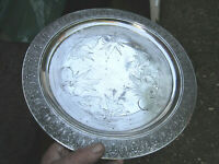 Old Antique American Victorian Reed Barton Silver Plate Circular Plaque c1880
