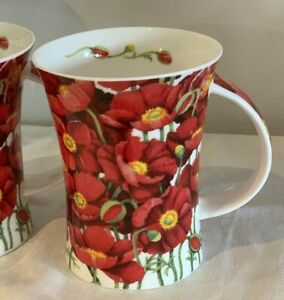 Dunoon ~ Large Tea/ Coffee Mug ~ Simply Poppies By Michele Aubourg