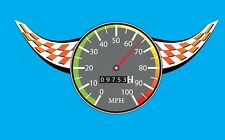 Speedometer Stickers Kids Boys Wall Decals Racing Black White