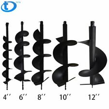 "4"" 6"" 8"" 10"" 12"" Earth Auger Drill Bits for Gas Powered Post Fence Hole Digger"