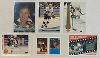 🏒HOF Wayne Gretzky 6-CARD LOT including 1991-92 Topps Stadium Club #1, LA Kings