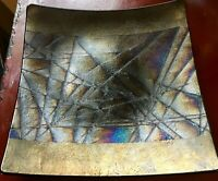 Signed Kurt McVay Fused Glass Plate Excellent
