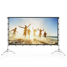Projector Screen 120 Inch Outdoor Indoor Projector Screen with Foldable Base Por