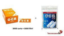 3000 CARTINE OCB ORANGE 50 X 60 CORTE ARANCIONI + 3000 Filtri OCB slim 6mm