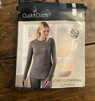 NWT Cuddl Duds Warm Layers Stretch Thermal Crew Neck Long Sleeve Shirt XS 2/4