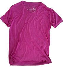 New Mens Light Purple Cotton Breathable V-Neck T-Shirt