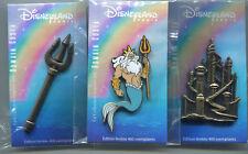 Pin Disneyland Paris DLP Pin set la petite sirène par Romain Costa