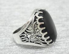 Echte Edelstein-Ringe mit Achat für Herren