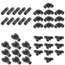 40pcs Tube OD 6mm 1/4'' Pneumatic Connector Air Line Quick Fittings 4 Shape