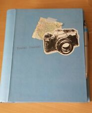 Travel Journal -  NOTEBOOK 250rules pages, Pen, Spral Bound -Little Finch