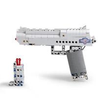 Desert Eagle Toy Building Block Pistol Can Fire Bullets Child Boy Gift